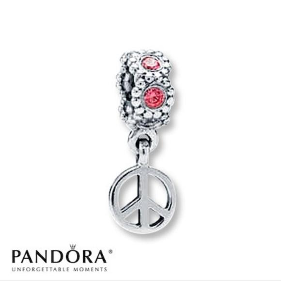Pandora Jewelry Genuine Peace Sign Dangle Charm Poshmark